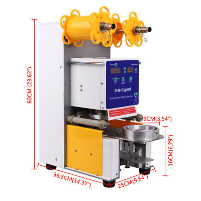 Electric Full Automatic Bubble Tea Cup Sealer Sealing Machine 750 Cups/Hr Xmas