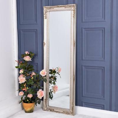 Champagne Tall Wall Mirror Shabby Vintage Chic French Large Ornate 150cm x 50cm