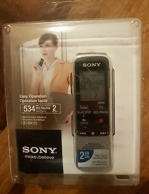 SONY ICD-BX112 DIGITAL DICTATION MAX 534 HRS VOICE RECORDING TIME no reserve NR