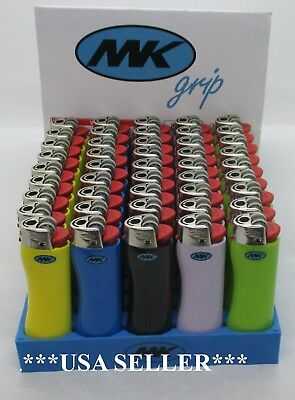 "Lot Of 5.10,20,50.100,200--""mk""  Grip Lighters, Disposable.,full Size"