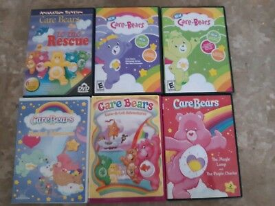 Care Bears Kids DVD's Set of 6 Movies Magical Adventures To The Rescue Magic