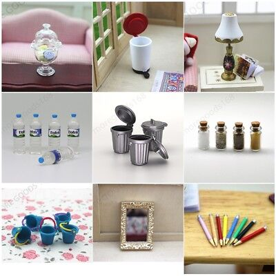 Mini Miniature Kitchen Bedroom Accessories For 1:12 Dollhouse Decor Gift Toy
