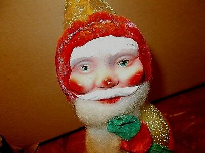 vintage large Santa Claus candy container bobble head Made in Western Germany