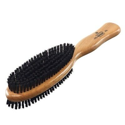 "Kent CC20 10"" Clothes Brush Cherry Wood Double-Sided Natural Bristle Garment ..."