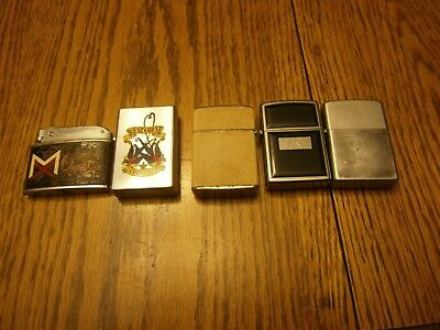 Lot Of 5 Vintage Cigarette Lighters Zippo Champ West Coast Choppers Magnaflux