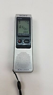 Sony IC Handheld Voice Recorder Portable Silver Small ICD-B120 FREE SHIPPING