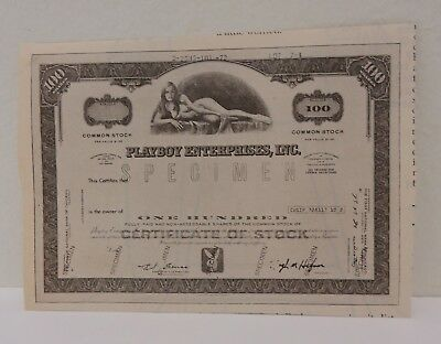 vintage playboy enterprise specimen stock certificate magazine ad clipping