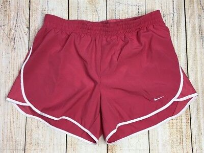 * NIKE Dri-Fit Womens Sz M Athletic Lined RUNNING SHORTS Pink
