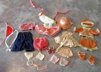 "Vintage Ginny Doll Clothes Dresses Hat Socks Shoes 8"" Dolls Tagged Untagged"