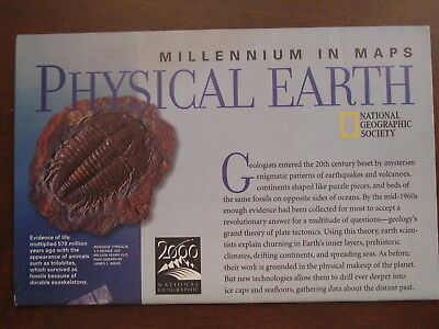 National Geographic Map of The Millennium in Maps: Physical Earth May 1998