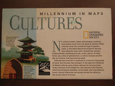 National Geographic Map of The Millennium in Maps: Cultures August 1999