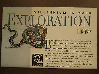 National Geographic Map of The Millennium in Maps: Exploration February 1998