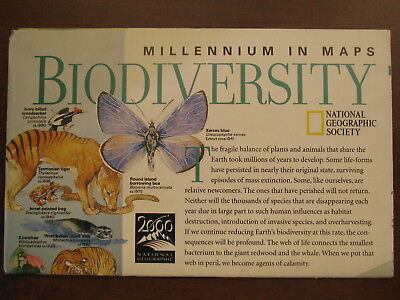 National Geographic Map of Millennium in Maps: Biodiversity February 1999