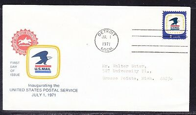 USA 1971 USPS First Day Cover  Addressed