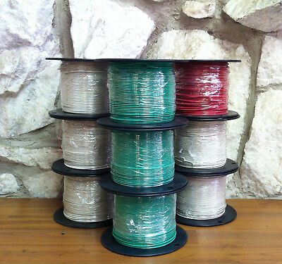 500 Ft Tfn/tewn Wire. 16 Awg Solid 600 Volt. Made In Usa.  Red Or Grn Available!