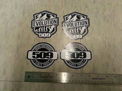 509 SNOWMOBILE STICKER / DECAL LOT - 4 STICKERS - Each Approx. 4 Inches - NEW!