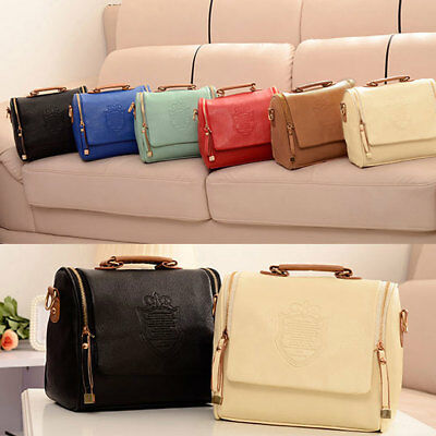 PU leather Handbag Long Shoulder Strap Bag Across Cross Body Compartments Ladies