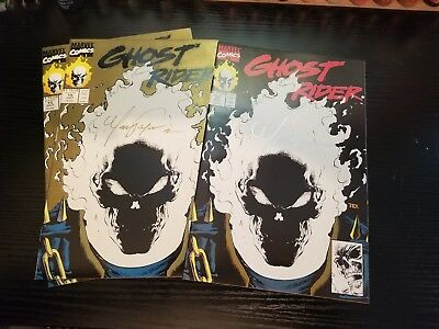 Ghost Rider #15 Glow In The Dark Signed By Mark Texiera Extremely High Grade 9.6