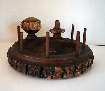 Vintage Adirondack Rustic Style Sewing Organizer with Pin Cushion