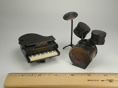 Die Cast Pencil Sharpeners: Piano and Drum Set