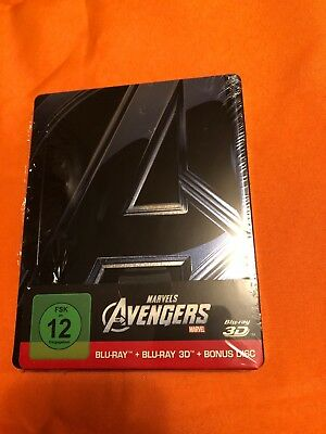 Marvels The Avengers Steelbook Blu Ray 3d 2d Bonus Disc Limited Edition