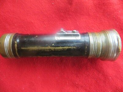 Brass Ray-O-Vac Flashlight Vintage Usa Works
