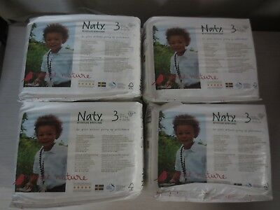 Naty by Nature Babycare Eco-Friendly Diapers, Size 3, 124 Diapers -4 packs of 31
