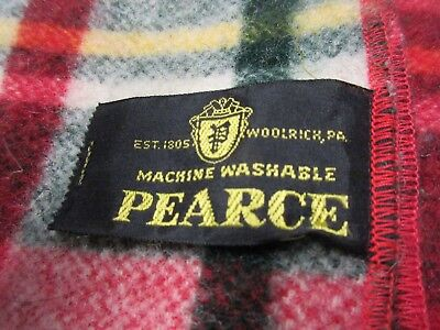 Vintage Pearce  Plaid Wool Blanket