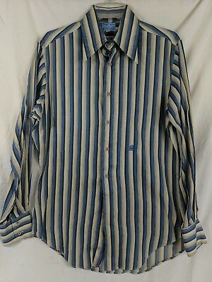 Vintage 40s/50s Mens OLEG CASSINI for Boonshaft Striped Dress Shirt 15-33 M