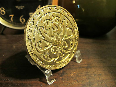 ORNATE HISTORIC ROUND #1 Leather Bookbinding Finishing tool Stamp EMBOSSING die