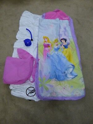 Disney Princess Ready Bed with inflatable mattress in travel bag