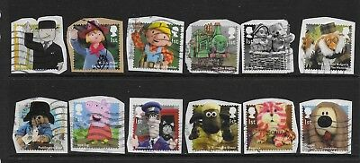1) GB Stamps 2014  Classic Children's TV Full Set. Good used.