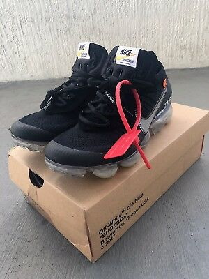 "Off-White X Nike Air VaporMax 2018 Black ""The Ten"" Men's Size 8.5"