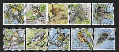 1) GB Stamps 2017  Songbirds Full Set. Good used.