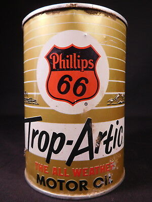 Vintage PHILLIPS 66 TROP-ARTIC MOTOR OIL empty metal oil can