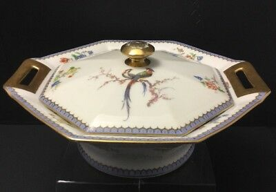 Theodore Haviland Limoges France PARADISE Covered Vegratable Serving Bowl(s)~Lid
