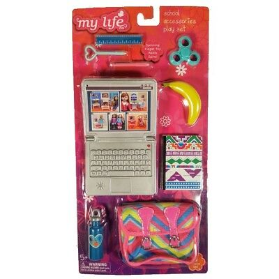 My Life As All American Girl Doll School Accessories, laptop, messenger bag NEW