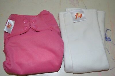 Flip Organic One Size Diaper Cover, One Organic Cotton Insert, One Stay Dry