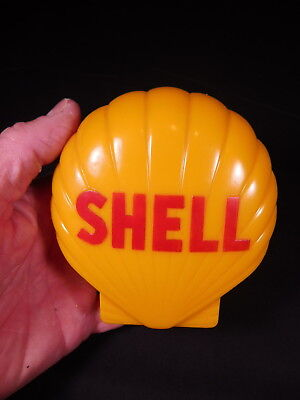 Original 1950's-1960's era plastic SHELL Oil/Gas toy bank in the shape of SHELL