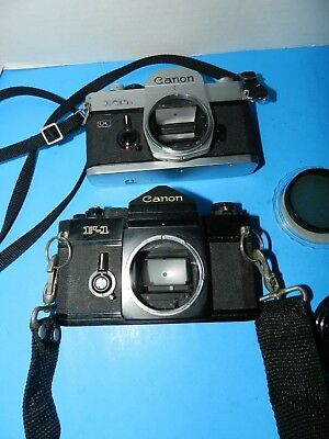Huge Vintage Lot Of Canon Cameras, Lenses 35Mm F-1 Canon Camera Assorted
