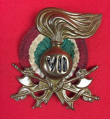 Ww2 Italian Fascist Tropical Pith Helmet Badge Sappers Vii Original Wwii