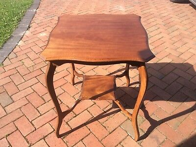 ANTIQUE VICTORIAN SIDE TABLE. 70cm tall x 61cm square. Cabriole Legs