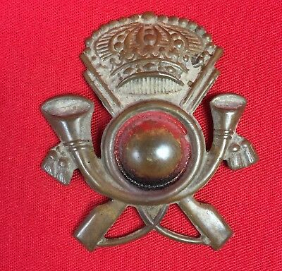Ww2 Italian Fascist Tropical Pith Helmet Badge Colonial Infantry  Original Wwii
