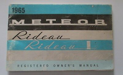 Antique Original 1965 Ford Rideau Montcalm Reg Owner's Manual Ford Canada