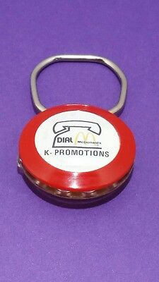 Vintage Telephone Rotary Dial Key Chain ~ Advertising Key Chain ~ McDonald's