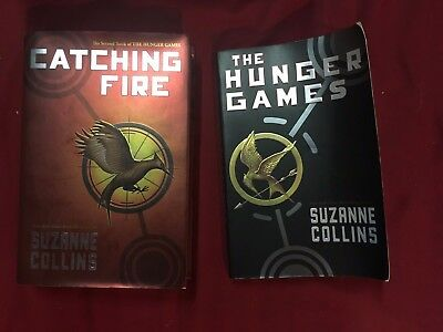 Suzanne Collins Lot of 2 book The Hunger Games Paperback Catching Fire Hardcover
