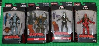 2018 Marvel Legends Series - Lot of 4 - w/ Deadpool, Cable & Marvel's Domino