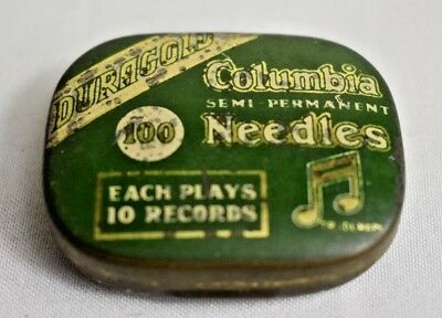 Columbia Duragold Semi Permanent ~  Gramophone Needle Tin ~ Gift
