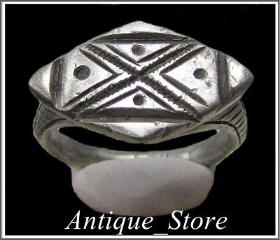 ** LEGIO X FRETENSIS **Ancient Silver Legionary Roman Ring ** TOP **