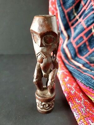 Old Borneo Dayak Miniature Tribal Carving  …beautiful collection piece